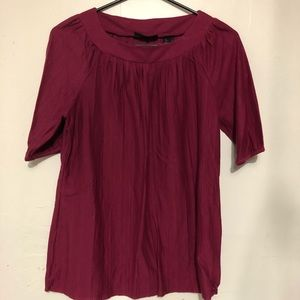Access short sleeved burgundy blouse
